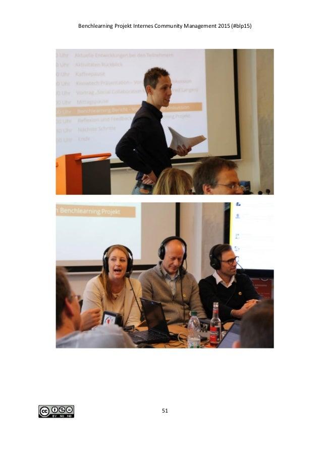 Benchlearning Projekt Internes Community Management 2015 (#blp15) 51