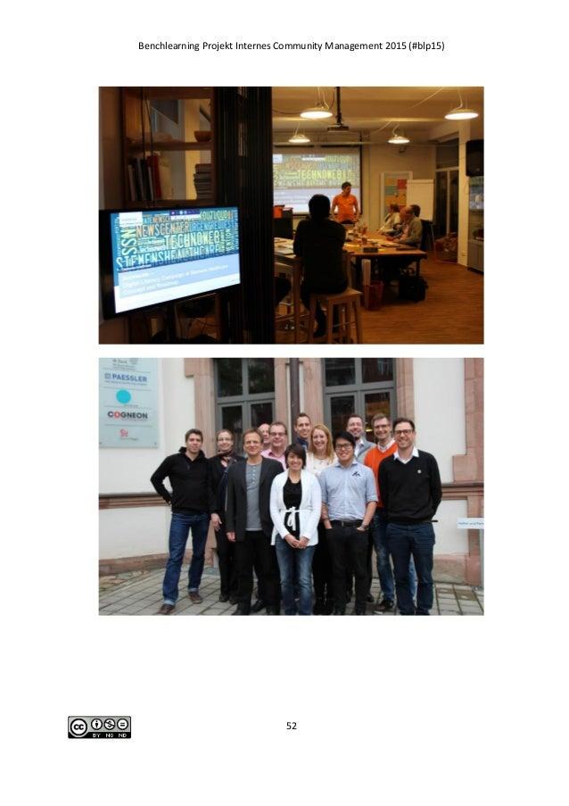Benchlearning Projekt Internes Community Management 2015 (#blp15) 52