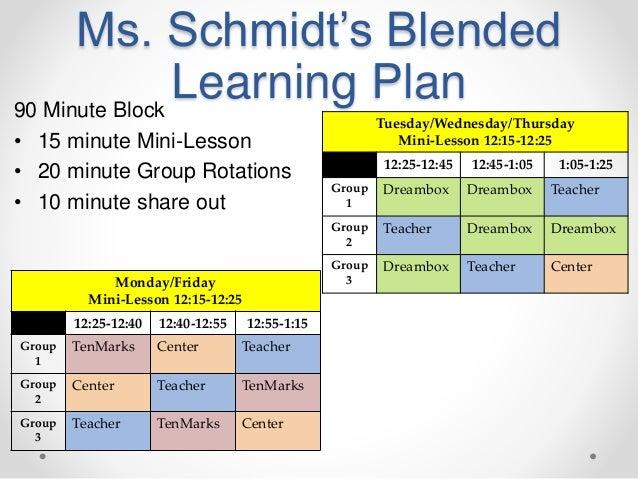 blended learning lesson plan pdf