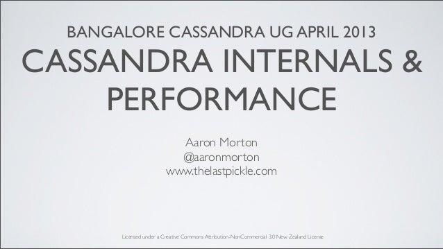 BANGALORE CASSANDRA UG APRIL 2013CASSANDRA INTERNALS &    PERFORMANCE                           Aaron Morton              ...