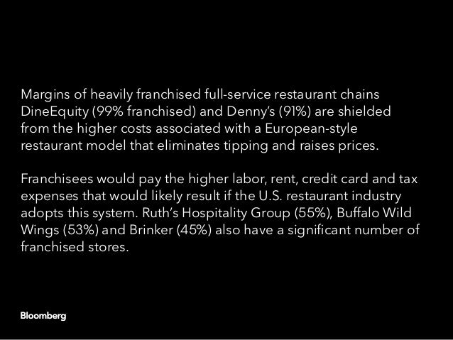 Margins of heavily franchised full-service restaurant chains DineEquity (99% franchised) and Denny's (91%) are shielded fr...
