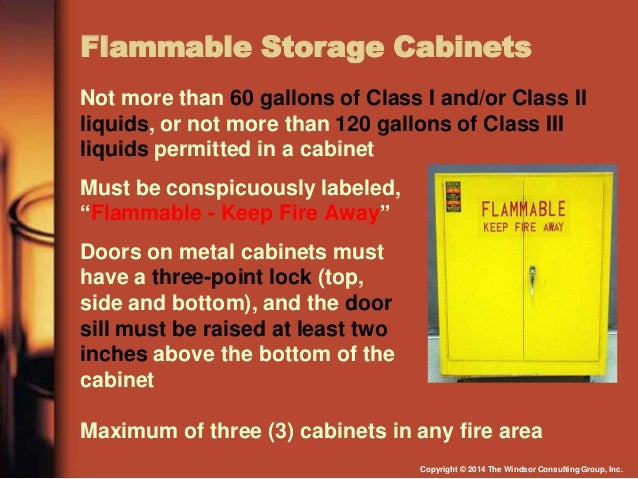 flammable and combustible liquids Flammable and combustible liquids overview of the osha standard osha standard 1910106 pertains to the handling, storage and use of flammable and combustible liquids with a flashpoint below 200 f.