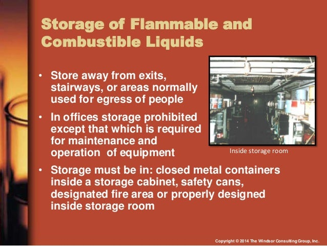 Storage of Flammable ...