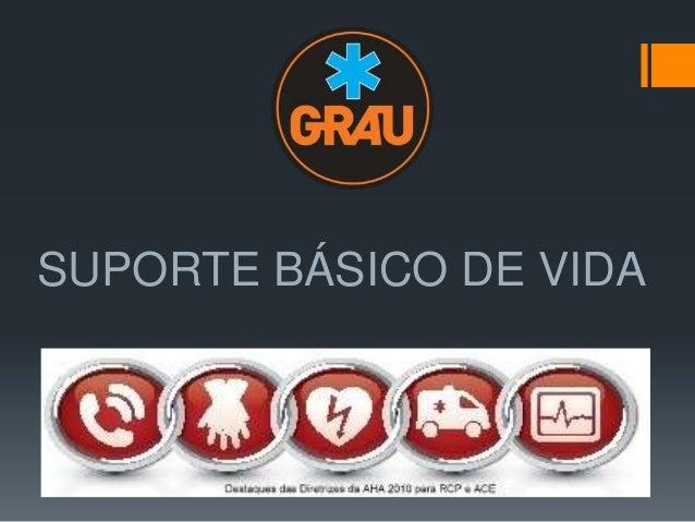 SUPORTE BÁSICO DE VIDA