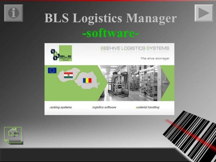 BLS Logistics Manager -software-