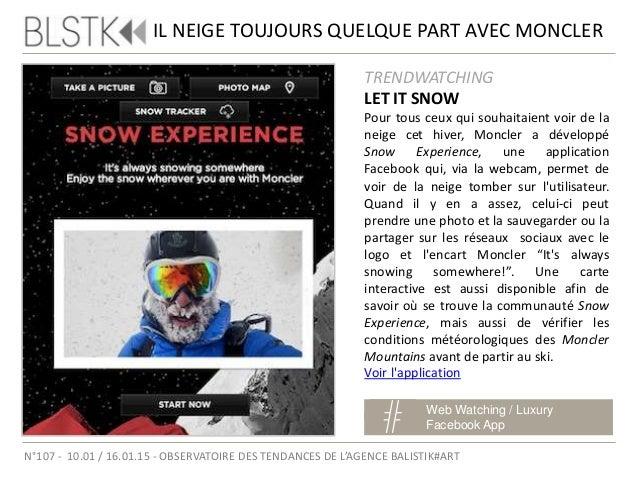 DIOR NOUS EN MET PLEIN LA VUE Luxury / Brand Content Social Media N°107 - 10.01 / 16.01.15 - OBSERVATOIRE DES TENDANCES DE...