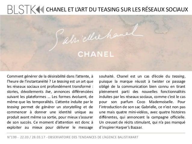 FOCUS GABRIELLES Pour la sortie d'un nouveau sac appelé Gabrielle, Chanel dévoilera un film en avril prochain. En attendan...