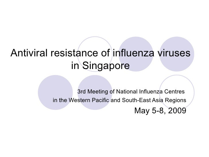 Antiviral resistance of influenza viruses in Singapore 3rd Meeting of National Influenza Centres  in the Western Pacific a...