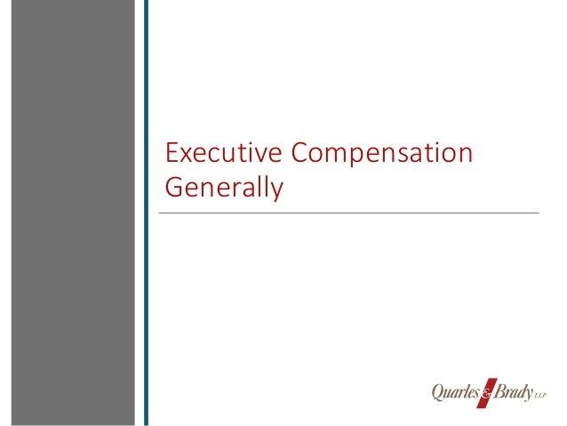 Executive compensation presentation