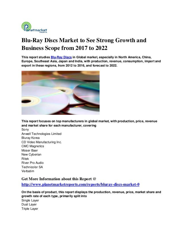 Blu-Ray Discs Market to See Strong Growth and Business Scope