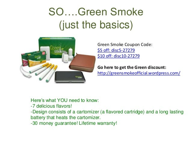 Green smoke coupon code