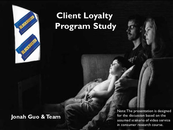 Client Loyalty              Program Study                               Note: The presentation is designedJonah Guo & Team...