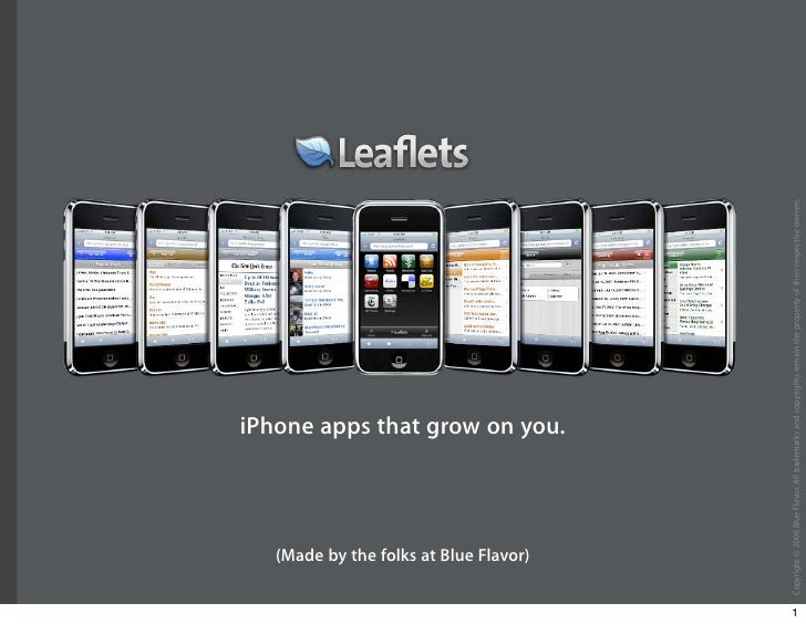 (Made by the folks at Blue Flavor)                                                  iPhone apps that grow on you.     1   ...