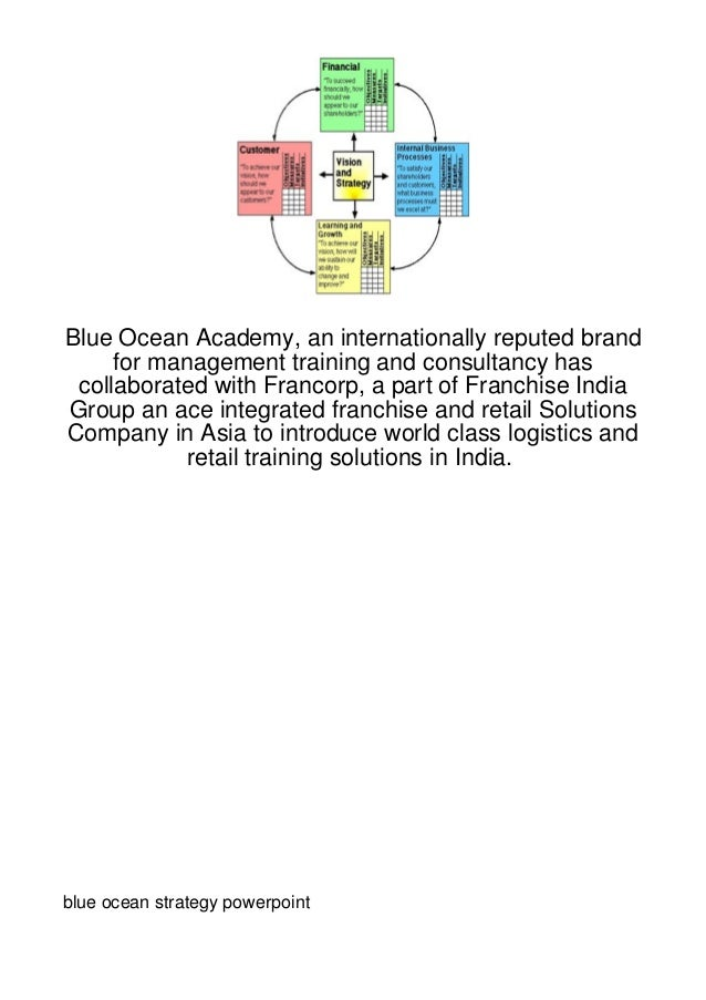 Blue Ocean Academy, an internationally reputed brand     for management training and consultancy has collaborated with Fra...