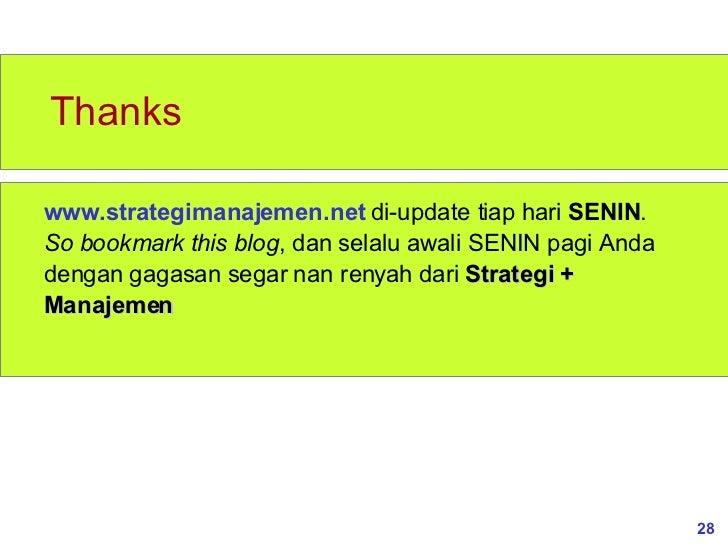 Manajemen strategi dan kebijakan bisnis