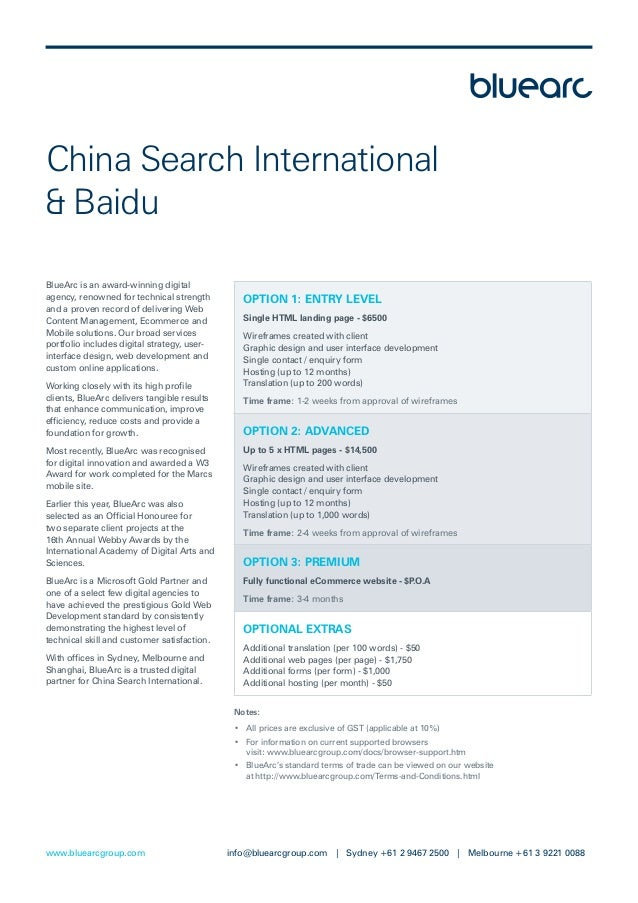 China Search International& BaiduBlueArc is an award-winning digitalagency, renowned for technical strength         OPTION...