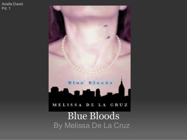 Blue Bloods By Melissa De La Cruz Airelle David Pd. 1