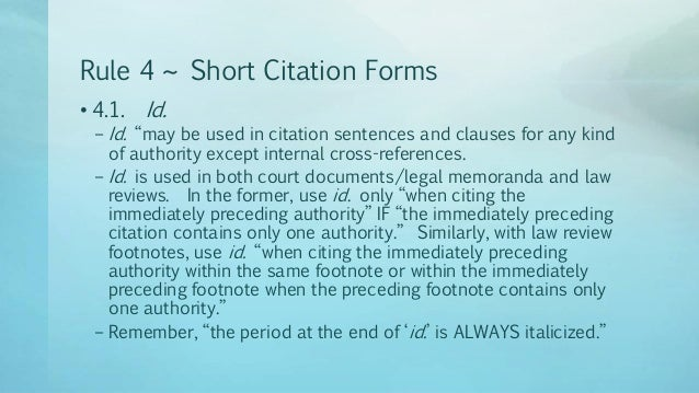 What are Bluebook citations