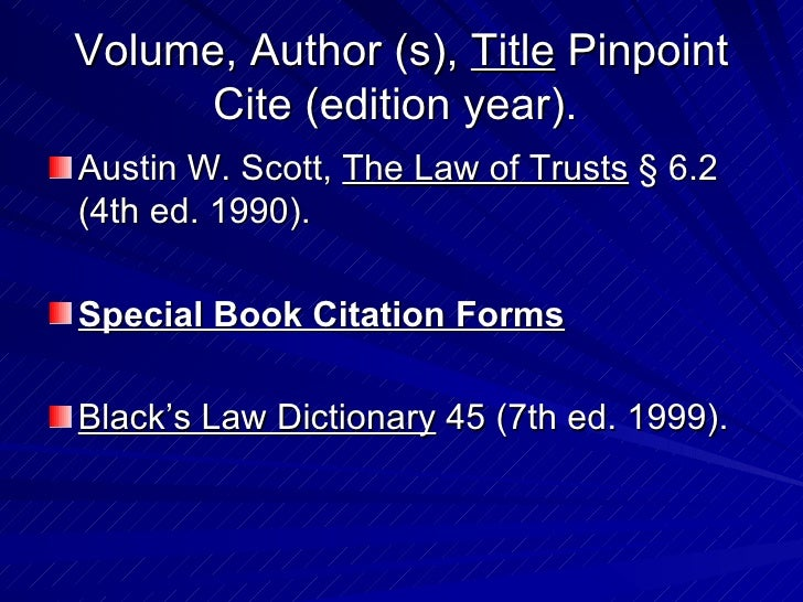 blue book report citation Note: the standard explained above is based on the bluebook rule 10  if a  page of the report is to be cited in the reference list entry, cite as.