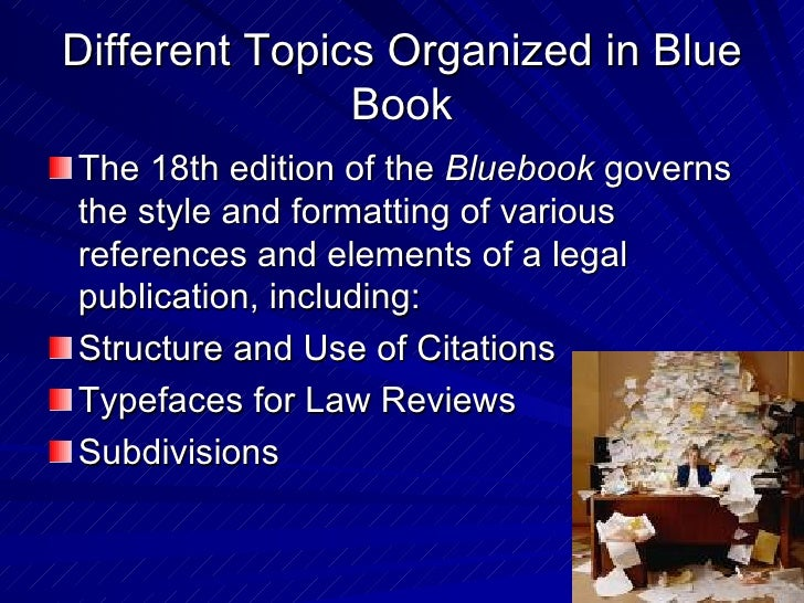 Legal citation blue book presentation 7 different topics organized in blue book ccuart Image collections