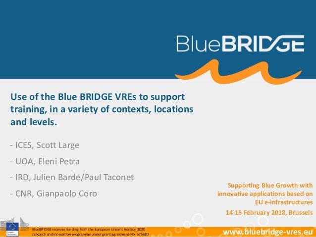 BlueBRIDGE supporting education Slide 2