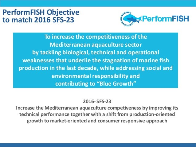 PerformFISH: Consumer Driven Production - Integrating Innovative Approaches for Competitive and Sustainable Performance Slide 3