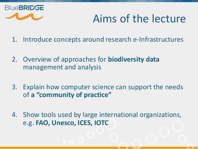 Using e-Infrastructures for Biodiversity Conservation Slide 2