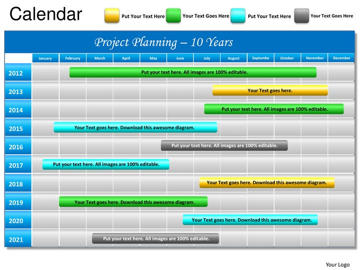 blue calendar 2012 powerpoint presentation templates, Presentation templates