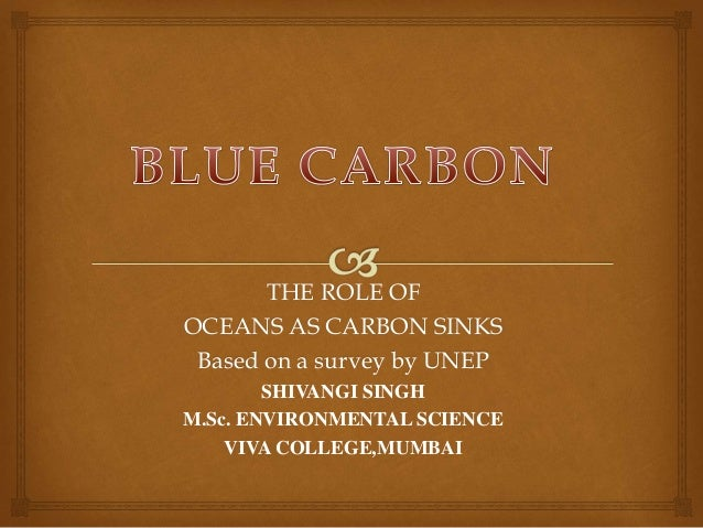 THE ROLE OF OCEANS AS CARBON SINKS Based on a survey by UNEP SHIVANGI SINGH M.Sc. ENVIRONMENTAL SCIENCE VIVA COLLEGE,MUMBAI