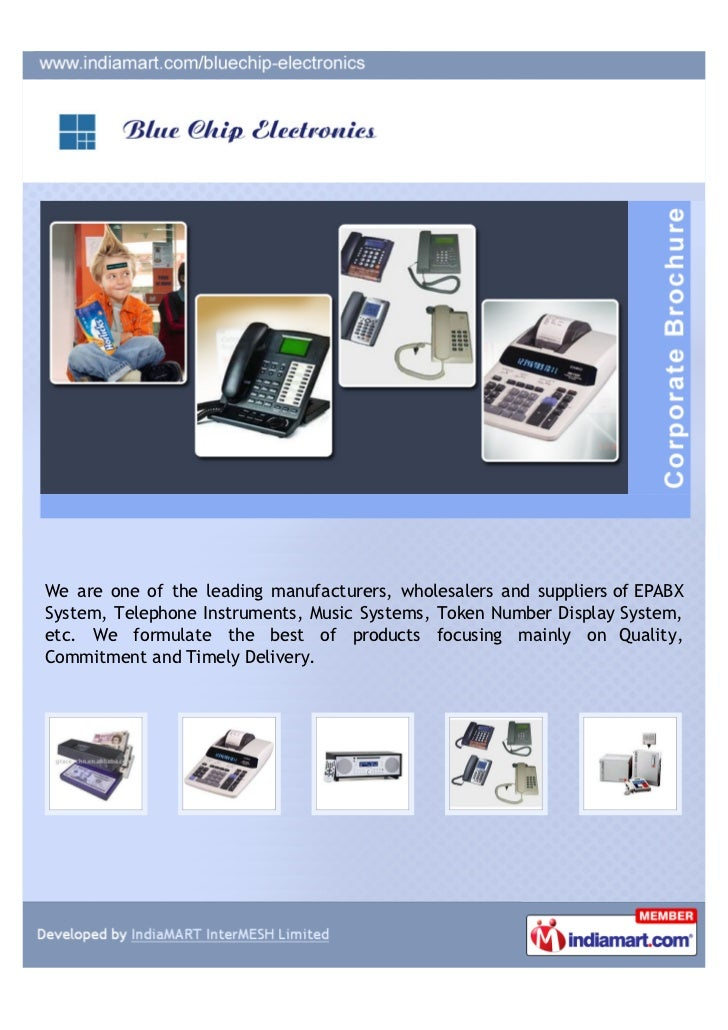 We are one of the leading manufacturers, wholesalers and suppliers of EPABXSystem, Telephone Instruments, Music Systems, T...