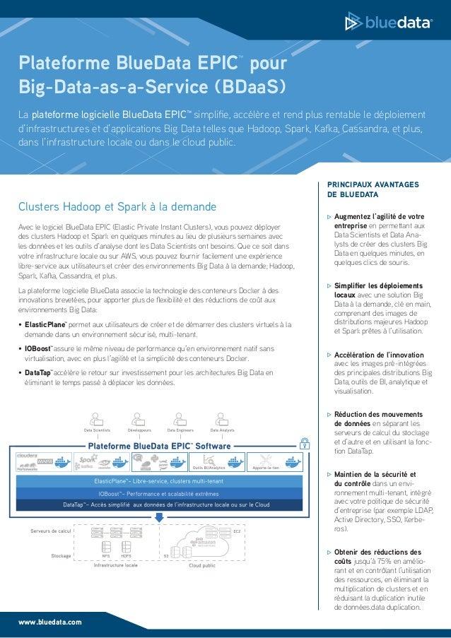 BlueData EPIC datasheet (en Français)