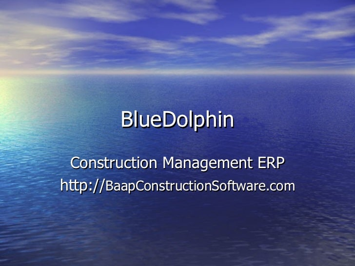 BlueDolphin Construction Management ERPhttp://BaapConstructionSoftware.com