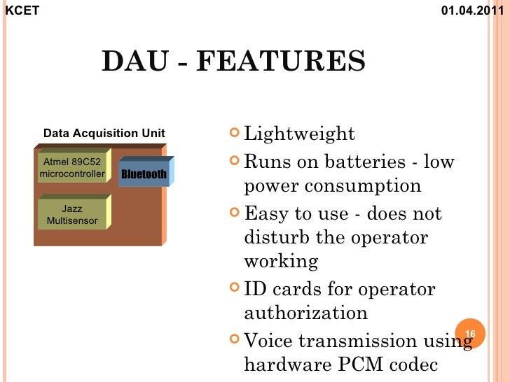 Data Acquisition Unit : Blue eye technology