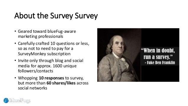 blueFug Marketing Survey of Marketing Surveys - 2016 results Slide 2
