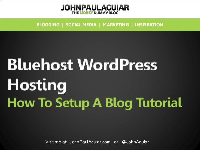 how to use bluehost and wordpress