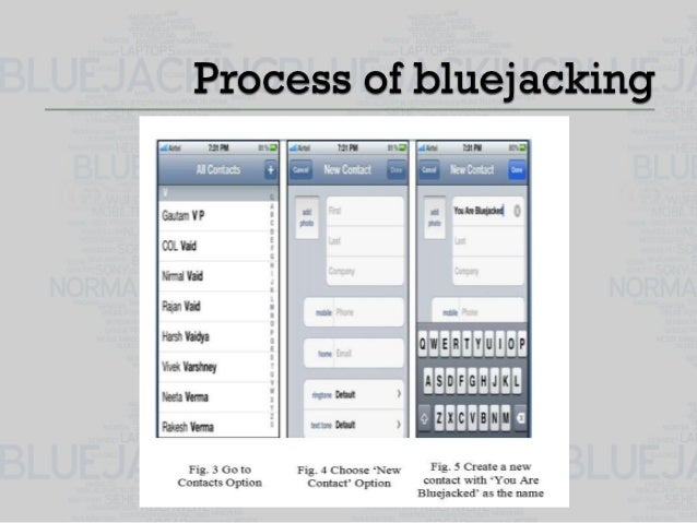 introduction to bluejacking Bluejacking does not involve the removal or alteration of any data from the device bluejackers often look for the receiving phone to ping or the introduction.