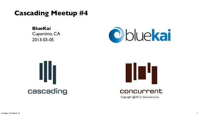 Cascading Meetup #4                       BlueKai                       Cupertino, CA                       2013-03-05    ...