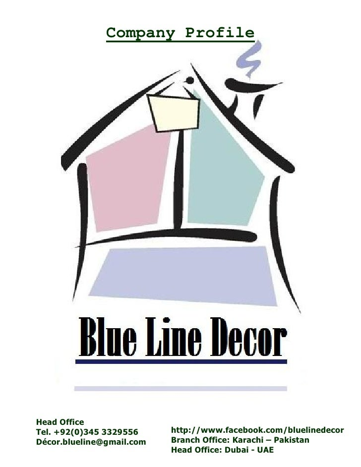 Blue Line Decor Company Profile Karachi