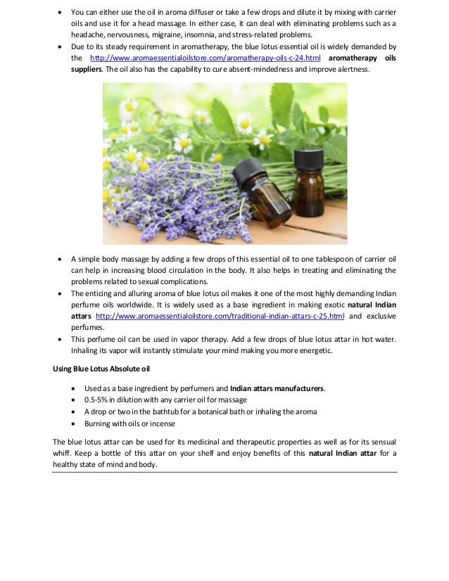 Blue Lotus Absolute Oil Myriad Of Benefits And Applications