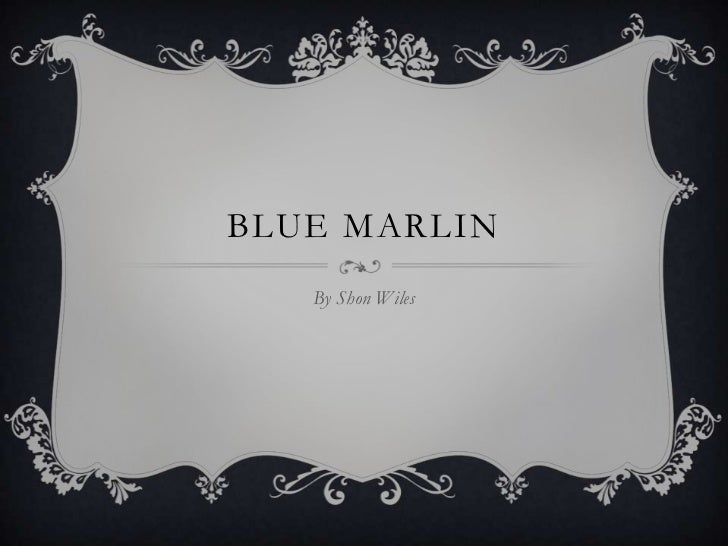 BLUE MARLIN   By Shon Wiles