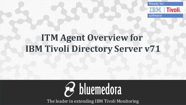 Blue Medora IBM Tivoli Monitoring (ITM) Agent for IBM