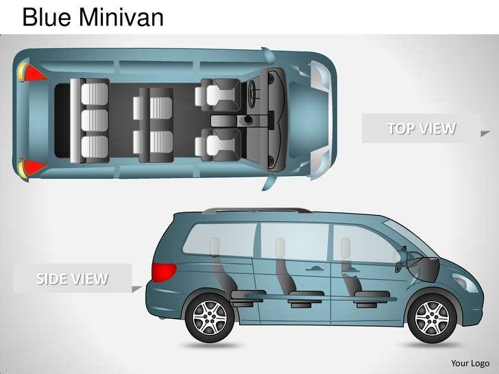 Blue Minivan               TOP VIEW SIDE VIEW                      Your Logo