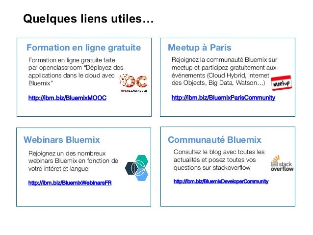 Bluemix and watson overview - Rencontres IBM et l'Ecole Polytechnique… slideshare - 웹