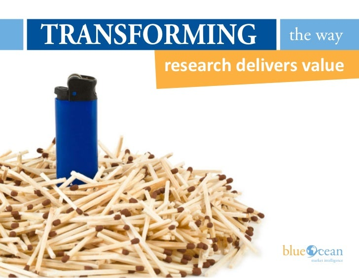 TRANSFORMING         the way      research delivers value                      PMS 143   PMS 284