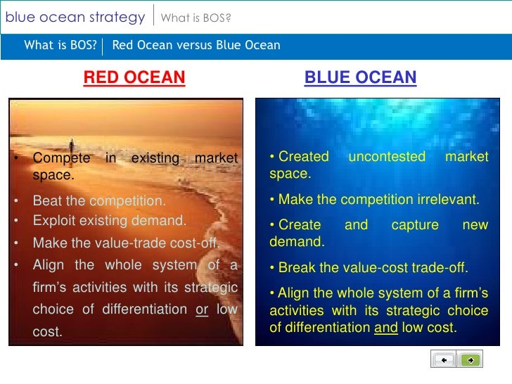 "blue and red ocean strategy paper Blue ocean vs red ocean businesses: opportunities in both my favorite example of a ""blue ocean strategy"" is cirque de soleil, a sometimes fixed (as in."