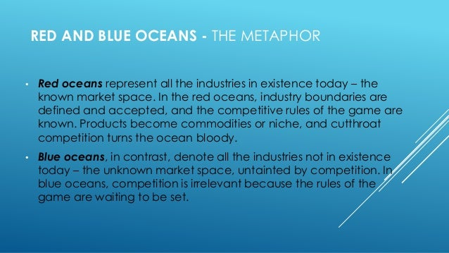 The metaphor of red and blue