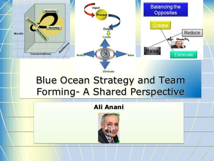 Blue Ocean Strategy and TeamForming- A Shared Perspective           Ali Anani
