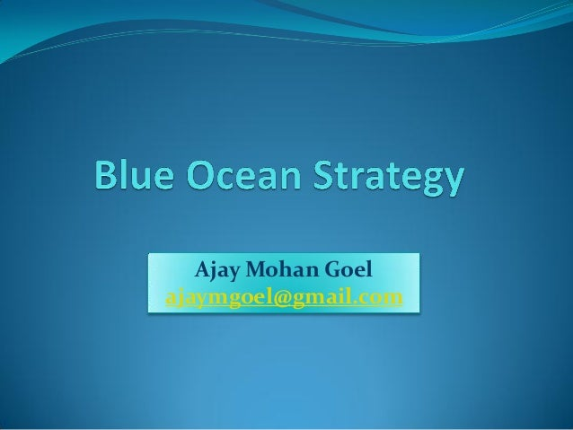 blue ocean strategy and group presentation Andrea simon explains what blue ocean strategy is and how it can pertain to the real estate industry.