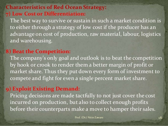 red and blue ocean strategy pdf