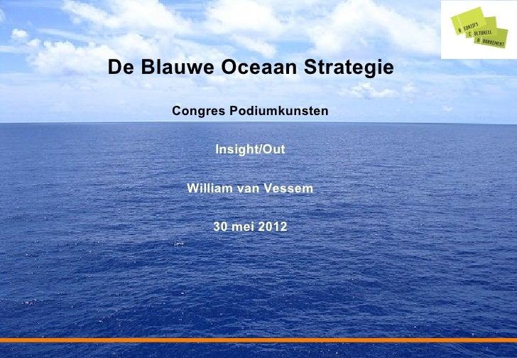 De Blauwe Oceaan Strategie     Congres Podiumkunsten           Insight/Out       William van Vessem          30 mei 2012  ...